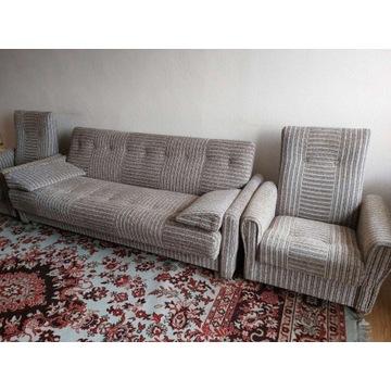 Komplet sofa tapczan wersalka fotele
