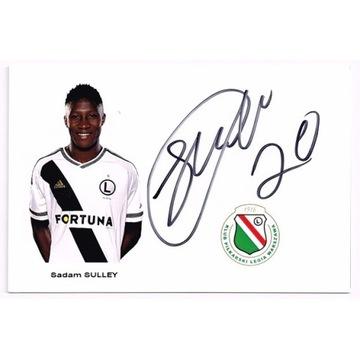 Sadam SULLEY Legia Warszawa autograf