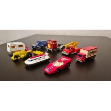 Zestaw samochodzików Matchbox 8 sztuk zabawki PRL