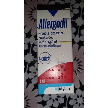 Allergodil, 0,5 mg /ml, krople do oczu, 6 ml