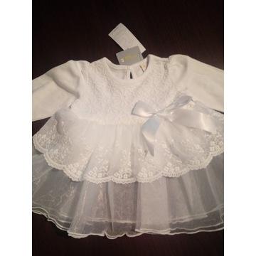 Bawełniana sukienka do chrztu