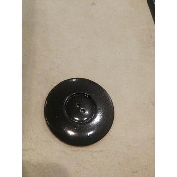 Czarny guzik średnica 45mm 4 dziurki Zestaw 10 szt