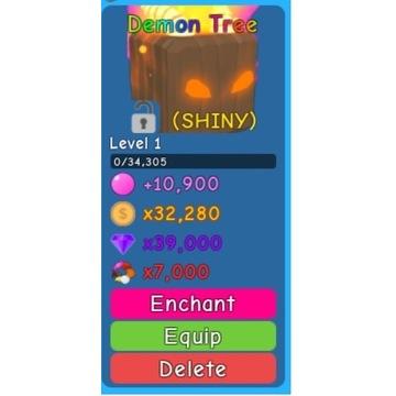Shiny demon tree PL Bubble Gum Simulator