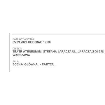Bilet do ATENEUM 05.09.2020 CESARZ