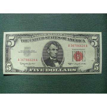 5 DOLLARS 1963  UNC