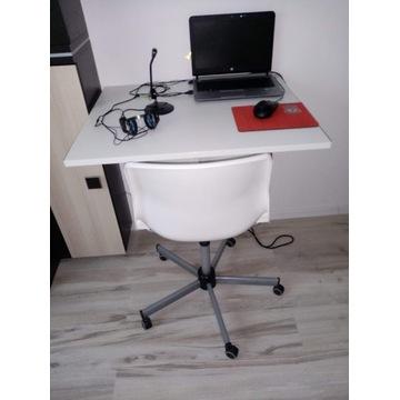 biurko przyścienne + fotel obrotowy z ikea