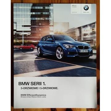 BMW 1 F20 2012 prospekt polski GRUBY 3/5 dzrzwiowe