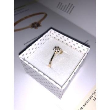 Złoty pierścionek z diamentem 0,30ct