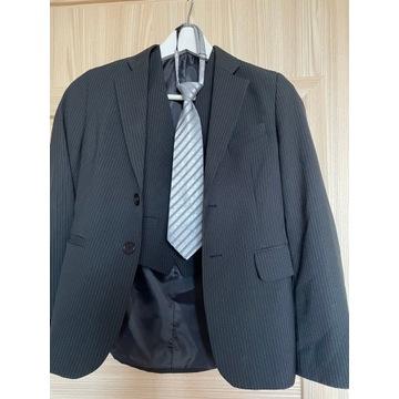 Marynarka z kamizelką i krawatem +koszule 128/ 8L