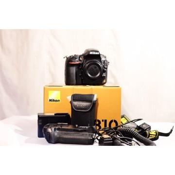 NIKON 810 (tylko 8760 klatek!!!) + battery grip