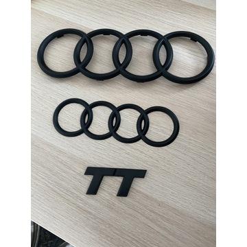 Emblematy znaczki logo Audi TT 8N zestaw