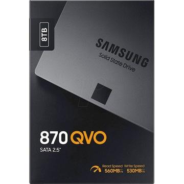 "SSD Dysk SSD SAMSUNG 870 QVO 8TB 2,5"" MZ-77Q8T0BW"