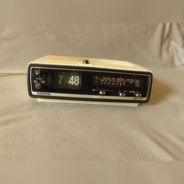 zegar klapkowy z radiem siemens alpha