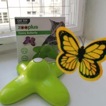 Funny Butterfly, motylek, zabawka dla kota