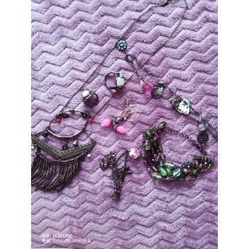 Zestaw biżuterii boho vintage