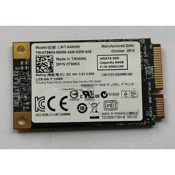 SSD msata LITE-ON LMT-64M6M 64GB Dell 0T99N3