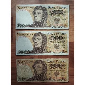 Banknoty PRL 500 zł Kościuszko