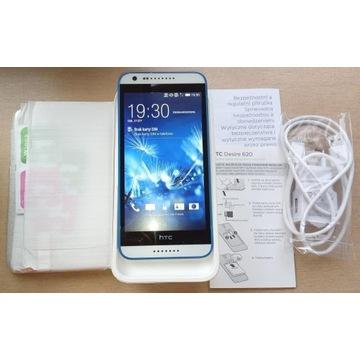HTC DESIRE 620 BIAŁY + etui + 2 szkła + ładowarka