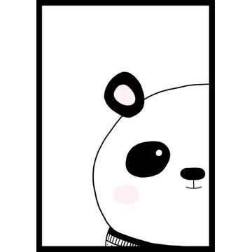 plakat poster dla dziecka panda miś zwierzę  A4