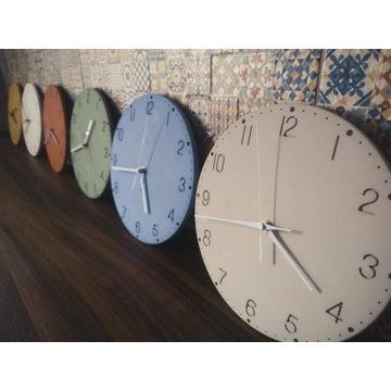Zegar betonowy, beton architektoniczny, handmade