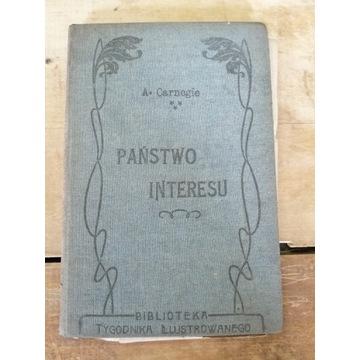 Stara książka PAŃSTWO INTERESU