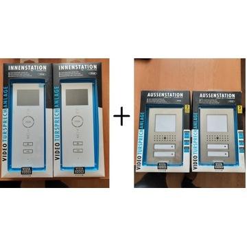 Videodomofon Wideodomofon 2 mieszkania 2 x 3,5'