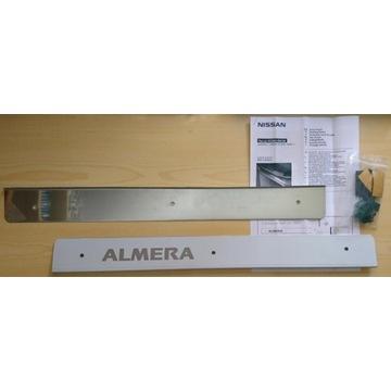 Nakładki progowe listwy ozdobne Almera N16 chrom