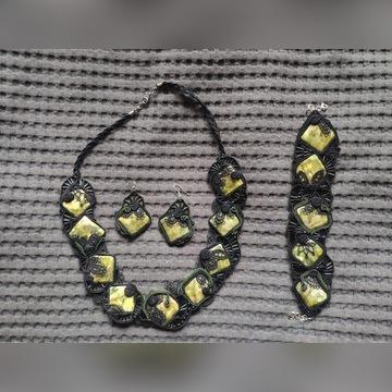 Komplet naszyjnik kolczyki bransoletka