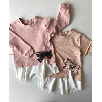 Bluzka tunika bluza 140/146 elegancka