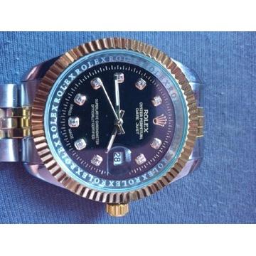 Rolexx DATEJUST [Srebrno-Czarno-Złoty]