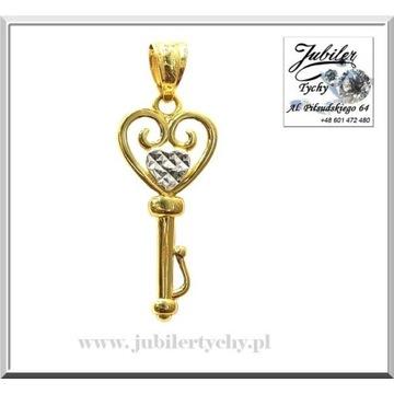 Złota zawieszka klucz / złoty kluczyk Złoto Au 585