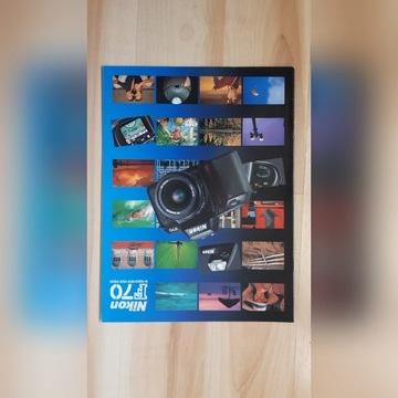 Prospekt lustrzanki analogowej Nikon F70