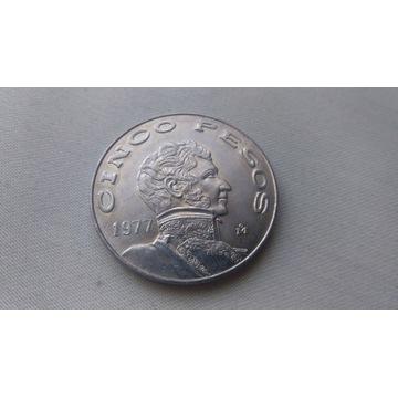 Meksyk/Mexico 5 pesos 1977