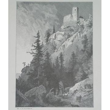 1888 ORYGINAŁ JELENIA GÓRA HIRSCHBERG KYNAST ŚLĄSK