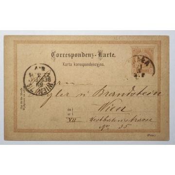 CP 10 typIII Karta Korespondencyjna 1890