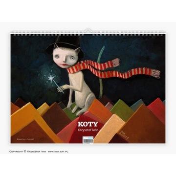 "Krzysztof Iwin - ""Koty"" v.2 kalendarz autorski"