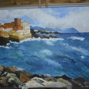 obraz 40x50 cm Włochy Kalabria