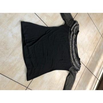 Sweterek z rękawami z siatki rozmiar M