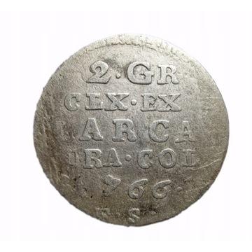 2 grosze 1766r. Piękna