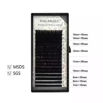 Rzęsy NAGARAKU Premium Mink C 0,07 MIX 16 pasków