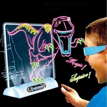 !MEGA HIT!ZESTAW TABLICA 3D LED SZABLONY I MARKERY