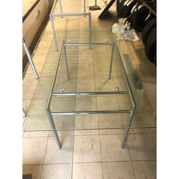 stół szklany aluminiowy stan idealny
