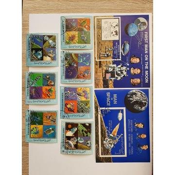 (1768)  dwa bloki i znaczki kosmos