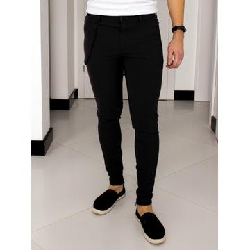 Spodnie Zara W31 (S - 40) Czarne Slim Fit 1326091