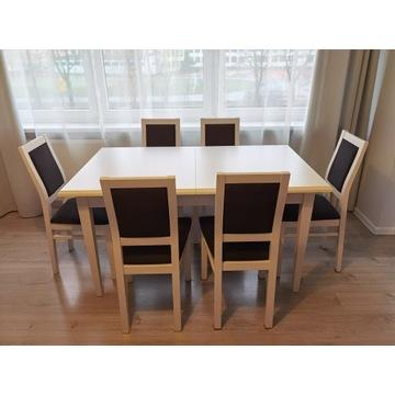 Stół Idento i krzesła Porto bukowe Black Red White