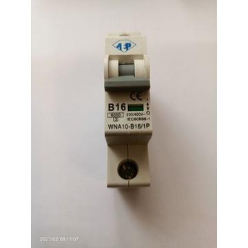 Wyłącznik nadprądowy bezpiecznik B16 AEP