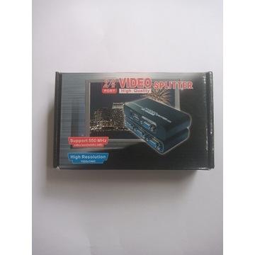 Rozdzielacz vga 2 video splitter 550 MHz 1920x1440