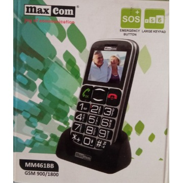 Telefon MaxCom dla seniora MM461bb