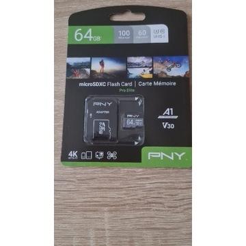 Karta pamięci z adapterem PNY Pro Elitę 64GB