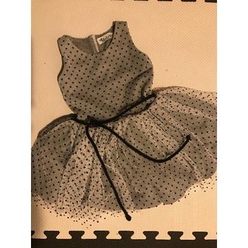 Mała Mi Sukienka Tiulowa w kropeczki roz.98